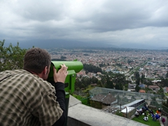 Robby checking out Cuenca from El Turi