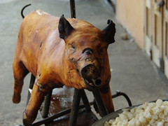 A hornado pig cooked to perfection