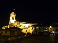 Night view of San Francisco Church and plaza