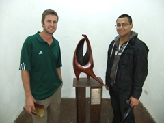 Robby and Rafael at the Museum of Modern Art