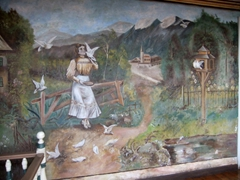Beautiful mural at the Casa de las Palomas