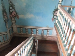 Staircase detail at Casa de las Palomas