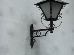 Old style street lamp; Salon del Pueblo