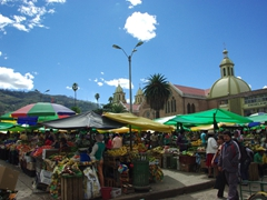 Another view of the busy Sunday market at Gualaceo