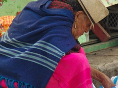 Indigenous woman at Gualaceo market