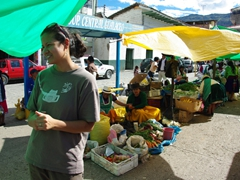 Becky loves open air markets