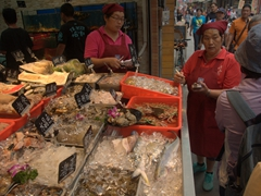 Fresh seafood on offer in Tamsui