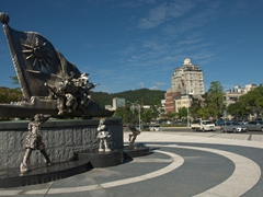 Boat monument in Dazhi; Taipei