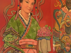 Temple detail, Lady Linshui
