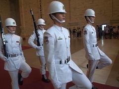 Changing of the guard; Chiang Kai-shek Memorial Hall