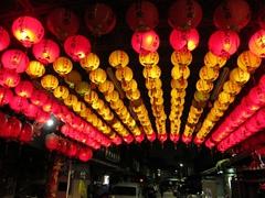 Lanterns at night; Taipei