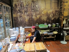 Kitchen at Chih Kan Pedder's Noodle; Tainan