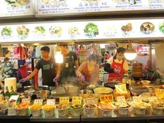 Tons of food options at Shilin night market