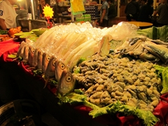 Fish heads for sale at Huaxi Night Market