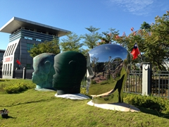 Head sculptures; Taipei