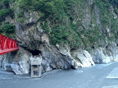 One of several bridges spanning the Liwu River in Taroko Gorge