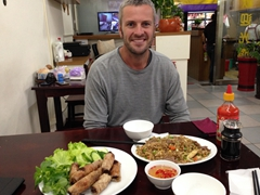 Celebrating Robby's birthday with Vietnamese food