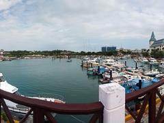 Boardwalk by the Tan-Shui Kang Fishing Harbor; Tamsui