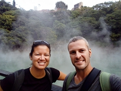 Enjoying the thermal valley in Beitou