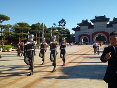 Changing of the guard ceremony at the Martyrs' Shrine