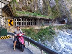 Robby enjoying our ride through Taroko Gorge