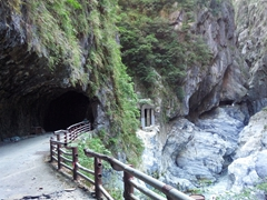 Looking back towards the Tunnel of Nine Turns, considered the most picturesque area of Taroko Gorge