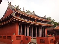 Another view of the Confucius temple in Tainan