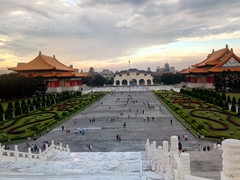 Sunset over Chiang Kai-shek Memorial Hall and Liberty Square
