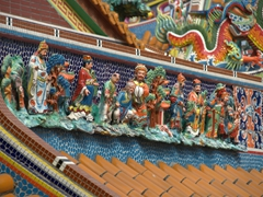 Colorful detail of Lady Linshui's Temple