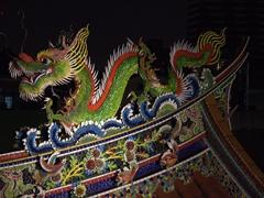 Dragon detail of Qin Shang temple