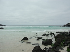 View of the beach at Port Chino, San Cristobal Island