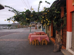 A picturesque dining spot; San Cristobal