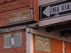 Quaint San Cristobal has different animals on all its street signs