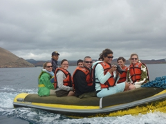 Life vests are mandatory while riding in the panga