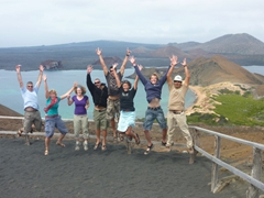 Our goofy group photo at Bartolome's lookout point