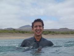 Luke enjoying our snorkeling experience at Floreana