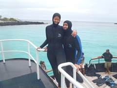 Even though the Galapagos is on the equator, a wetsuit is needed...no joke, the water can be super cold!