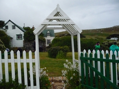 Our West Point hosts graciously invited us for tea at their quaint cottage; West Point Island