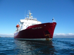 View of the Polar Star, our fine home for this expedition