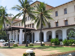 View of our colonial style Galle Face Hotel, where we spent the night in Colombo