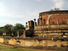 Another view of Polonnaruwa Vatadage, a UNESCO world heritage site
