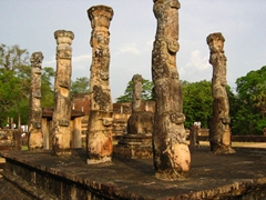Unique columns of Atadage, Polonnaruwa Quadrangle