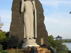 Beautiful Buddha statue, near Anuradhapura