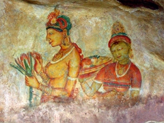 Another example of the beautiful frescoes of Sigiriya