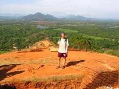 Becky at the highest point of Sigiriya