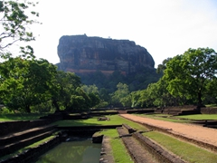 "Early morning photo of Sigiriya or ""Lion's Rock"""