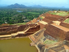 Beautiful view from the top of Sigiriya
