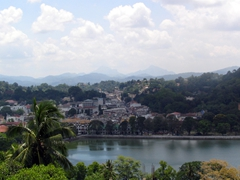 View overlooking Kandy from our Chinese restaurant