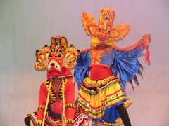 Vivid dance masks, Kandy Cultural Dance Show