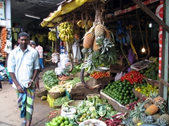 Fresh fruits and vegetables for sale at the Nuwara Eliya Market